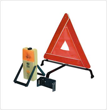 Triángulo y luz de advertencia